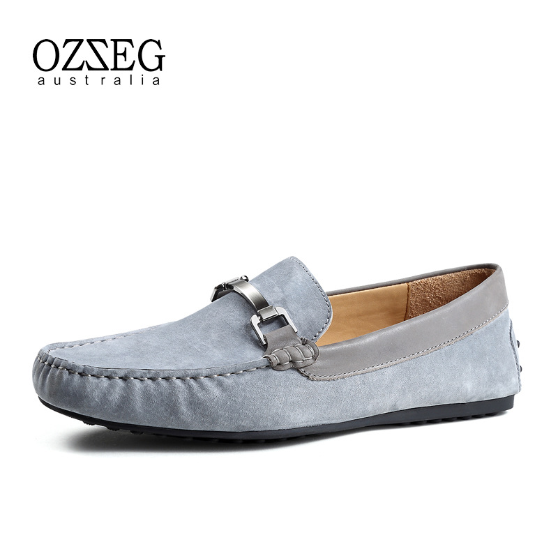 2018 Men Flat Shoes Genuine Leather Loafers Men Casual Shoes Fashion Moccasins Slip On Men Flats Driving Shoes Male Top Quality men casual shoes genuine leather fashion moccasins men flats loafers soft bottom leisure driving shoes male footwear rmc 411