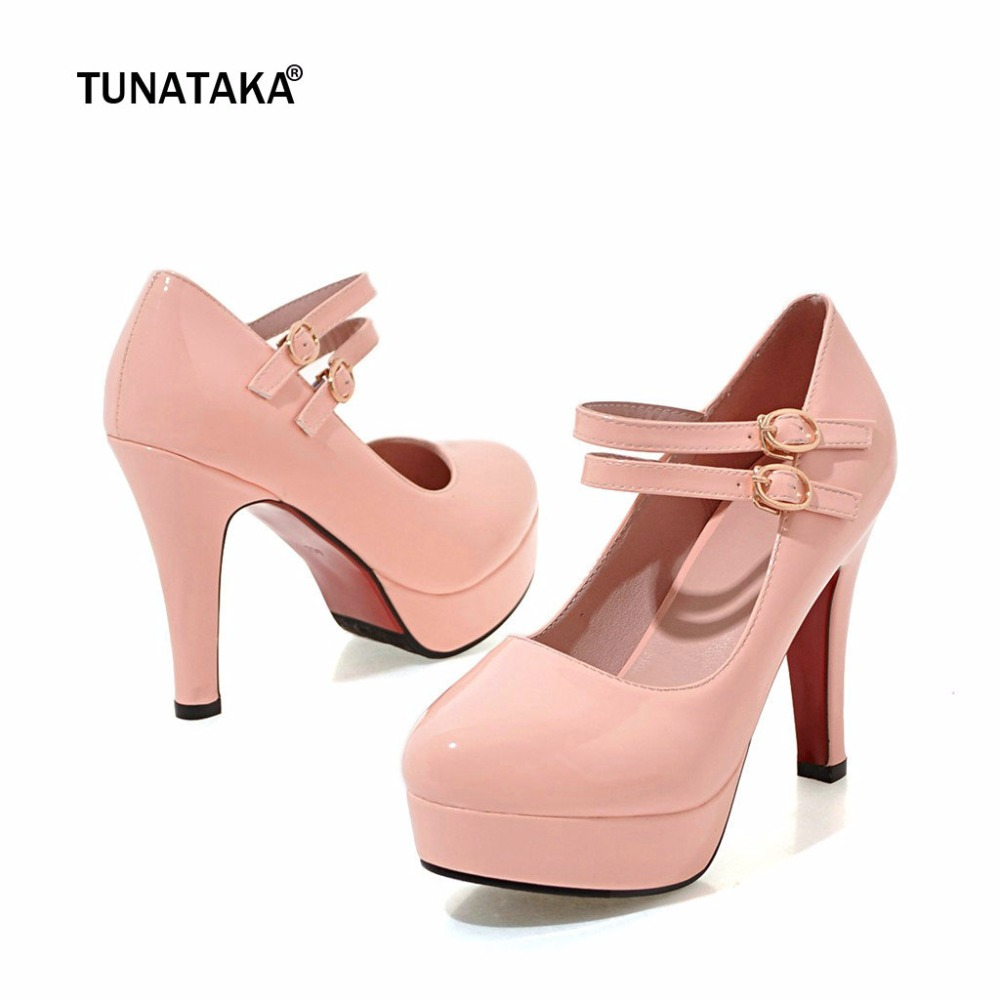 Mary Jane Chunky High Heels Platform Buckle Women's Pumps Fashion Party Spring Autumn Spring Shoes mary jane sterling u can algebra i for dummies