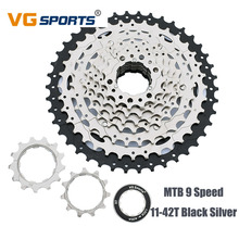 VG Sports MTB Bicycle Rotating Freewheel 9 Speed 11-42T Cassette Sprocket For Shimano SRAM Fixie cog Parts Road Bicycle Flywheel все цены