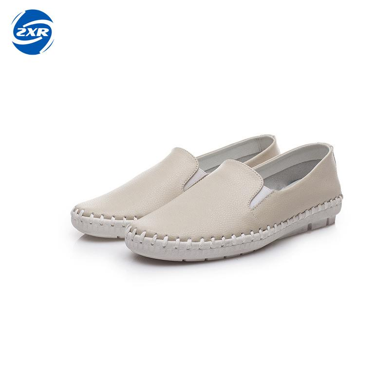 High Quality Soft Leather Shoes Women Flats 2018 Spring Summer Fashion Women's Casual Brand Shoes Ladies Loafers top brand high quality genuine leather casual men shoes cow suede comfortable loafers soft breathable shoes men flats warm
