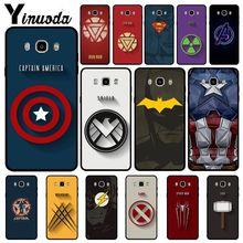 Yinuoda Marvel Superhero Soft silicone black Phone Case For Samsung Galaxy j2prime j4plus j6plus j7 prime j8 2018 Cover