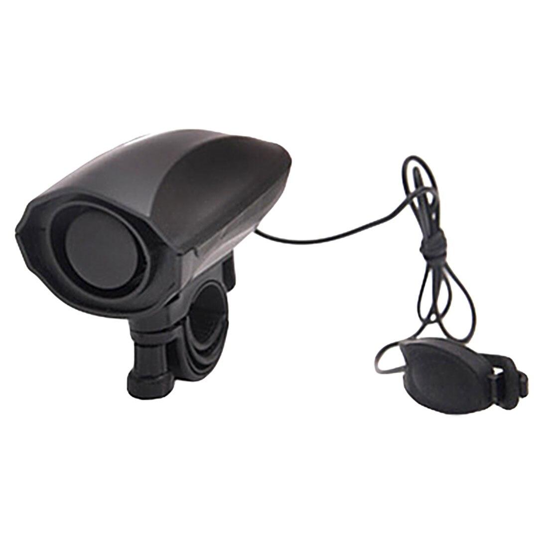 Высокая децибел громкий велосипедный колокольчик электрический рог сирена сигнализация для верховой езды Безопасность Черный велосипедн...