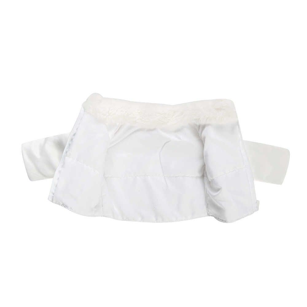 Ropa de muñeca 2 uds. Vestido de novia chaqueta blanca + traje de Jeans negro apto para niñas de 18 pulgadas americanas y 43 Cm de bebé de la generación de niños