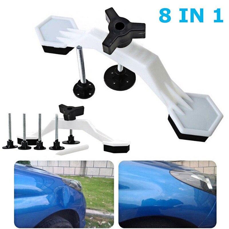 1 Set Car Body Paintless Dent Repair Tools Kit Bridge Puller & Glue Pulling Tabs Car Dent Repair Body Damage Fix Tool