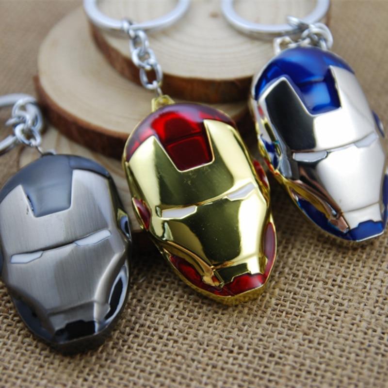 Marvel Avengers Metal Iron Man Keychain Captain America Movie Keychain Chain