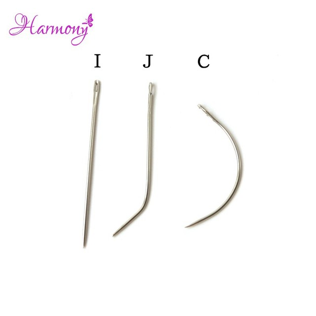 3bags I J C Shape Hair Weaving Needle For Making Lace Wigcurved