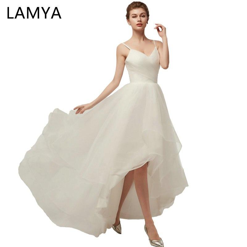 Lamya High/Low Beach Chiffion Wedding Dress 2018 Newest