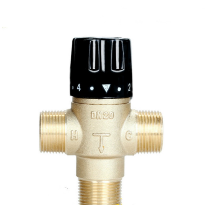 Brass Thermostatic Mixing Valve Bathroom Faucet Temperature Mixer Control Thermostatic Valve Home Improvement DN20 1 unit of thermostatic mixer valves mixing valve constant temperature faucet thermostatic