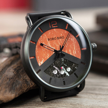 Zegarki militarne Men Wood Watch Metal Quartz Watch with Date Display Male relogios masculino