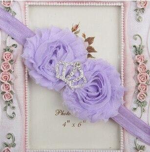 15 цветов инструмент для укладки императорская корона ободки аксессуары для волос для детей делают их модными милыми - Цвет: 10 light purple