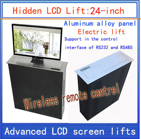 LCD, TV Lifter \ hidden \ Monitor Lifts \ lift bracket \ LCD electric lift \ wireless remote control movements \ 24-inch lift lcd tv lifter hidden monitor lifts lift bracket lcd electric lift wireless remote control movements 22 inch lif
