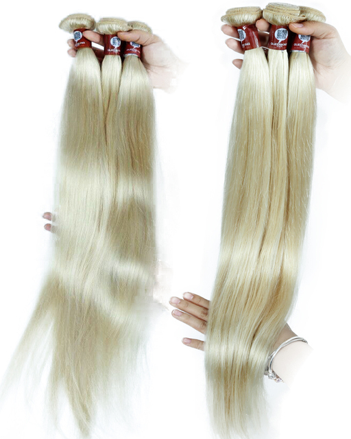 QueenKing/волнистые волосы, прямые, волнистые, Платиновые, блонд #60 цветов, Remy, натуральные волосы для наращивания, 12-28 дюймов