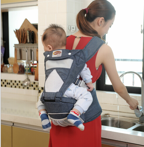 ФОТО Four Season Breathable Infant Baby Carrier Soft Natural Wrap Sling Baby Backpack 0-3 Yrs Breathable Cotton Hipseat Nursing Cover