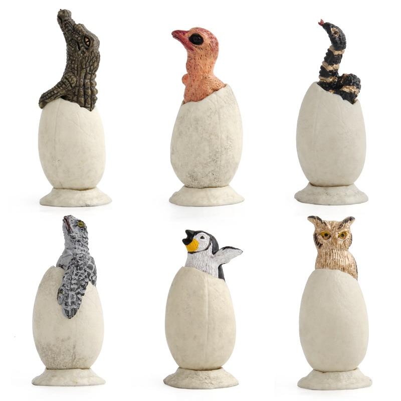 Toys-Eggs-Ornaments Simulation-Toy Animal-Models Mini Children's 6pcs Explosions-Hatch-Eggs