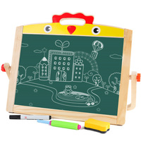 New 1 Pcs Drawing Writing Board Double Side Magnetic Puzzle Early Learning Education Drawing Toys Gift For Kids Upgraded D36