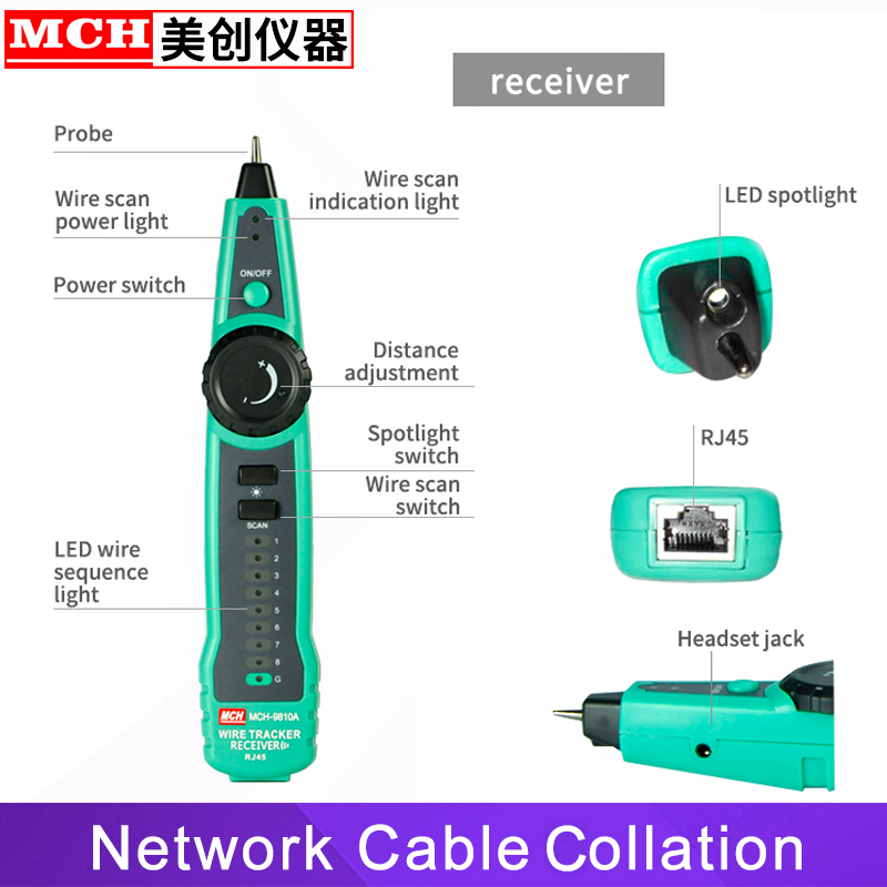 Image 3 - RJ45 Cable Tester Network Lan UTP Tracker Wire Scan Verify Test Telephone Line Finder RJ11 Cat5 Cat6 Wholesale Dropship-in Networking Tools from Computer & Office