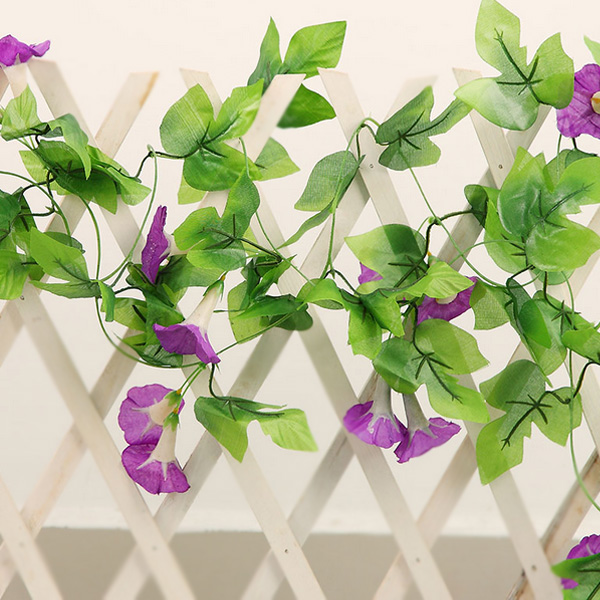 160cm artificial morning glory flowers vine simulation climbing