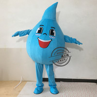 Adult Water Drop Mascot Costume Mascotte Theme Carnival Character Suit Colorful Raindrop Drip Mascot Halloween Party Costumes