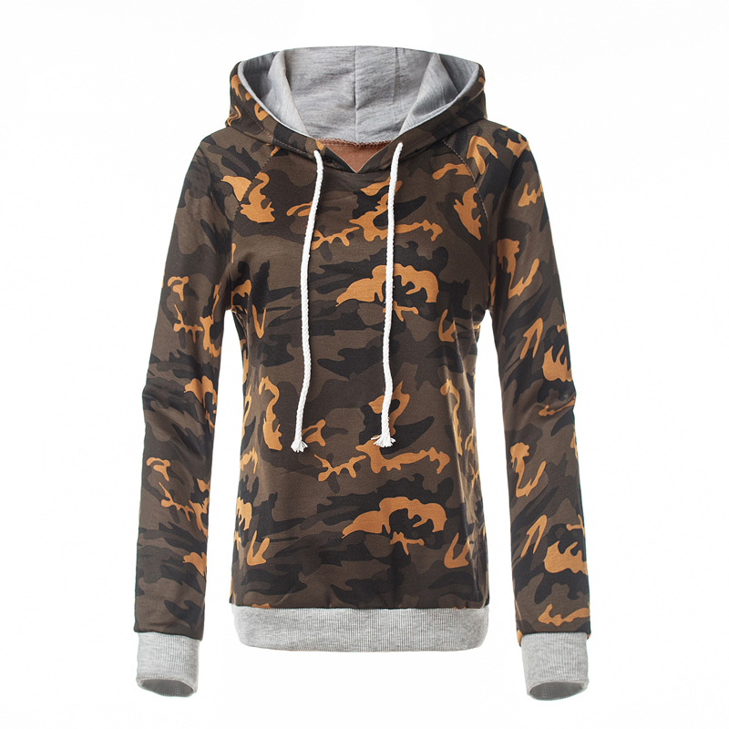 2017 Sweatshirts Hoodies Women Autumn Winter Camo Color Girls Wear Cotton  Long Sleeve Loose Tracksuit Patchwork - Popular Winter Camo Hoodies-Buy Cheap Winter Camo Hoodies Lots