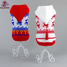 2017 New Autumn & Winter Lovely Christmas Milu Pattern Warm Sweater with Hoodie Dogs Clothings for Pets Dogs Clothes