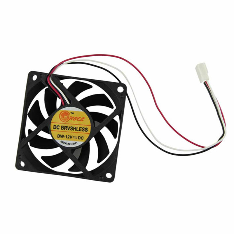 2018 New Computer Case Cooler 12V 7CM 70MM Fan 3pin PC CPU Cooling Cooler Fan Black Heat Sink Small Cooling Fan PC wholesale 2200rpm cpu quiet fan cooler cooling heatsink for intel lga775 1155 amd am2 3 l059 new hot