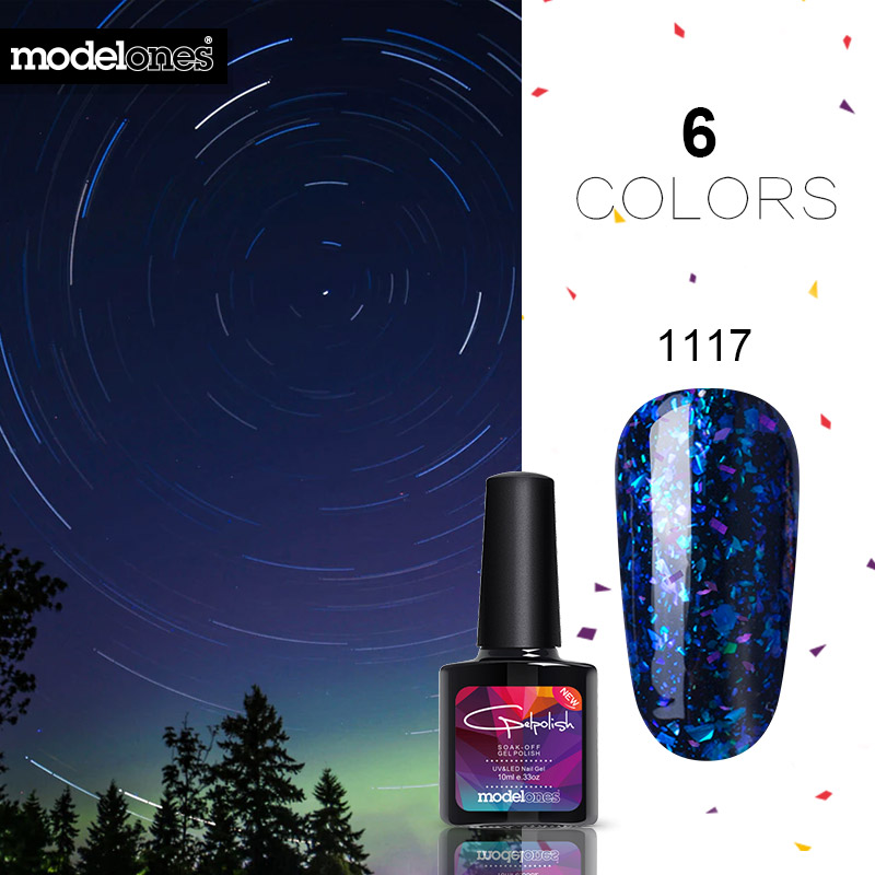 Gelaxy Gel Nail Polish: Modelones Shiny Galaxy Nail Gel Polish Colorful Glitter