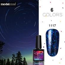 Modelones Shiny galaxy Nail Gel Polish Colorful Glitter Gel Polish UV Soak Off Gel Nail Polish Need UV Led Lamp Nail Gelpolish