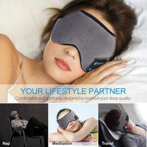Image 3 - JINSERTA Wireless Bluetooth 5.0 Earphone Sleep Mask Phone Headband Sleep Soft Headphone For Listenting Music Answering Phone