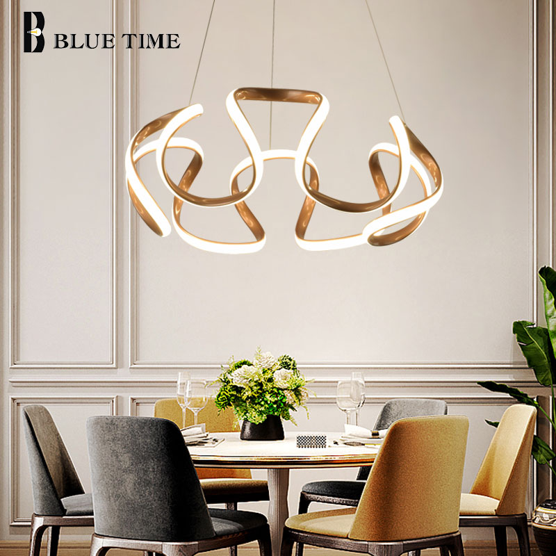 Hot Sale Modern LED Chandeliers For Dining Room Bedroom Study Room Living Room Home Originality LED Chandeliers Golden FinishedHot Sale Modern LED Chandeliers For Dining Room Bedroom Study Room Living Room Home Originality LED Chandeliers Golden Finished