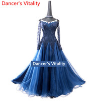 Modern dance dress women ballroom dance competition dress waltz dance dress adult female performance dance big swing dress