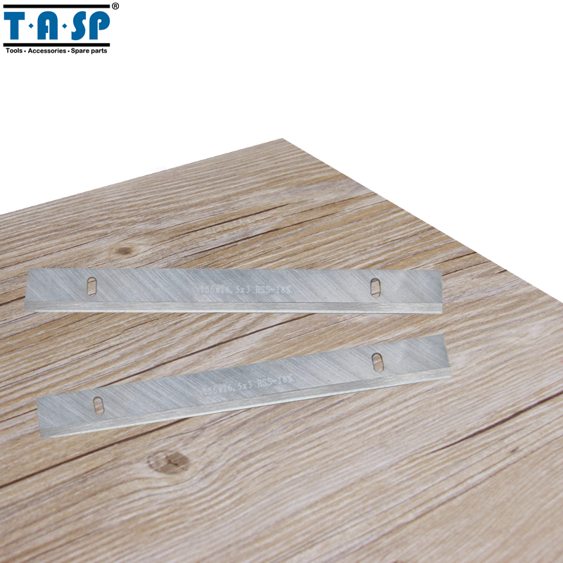 "TASP 6"" HSS Thickness Planer Blade 156x16.3x3mm Wood Planer Knife for Woodworking Power Tools Accessories"