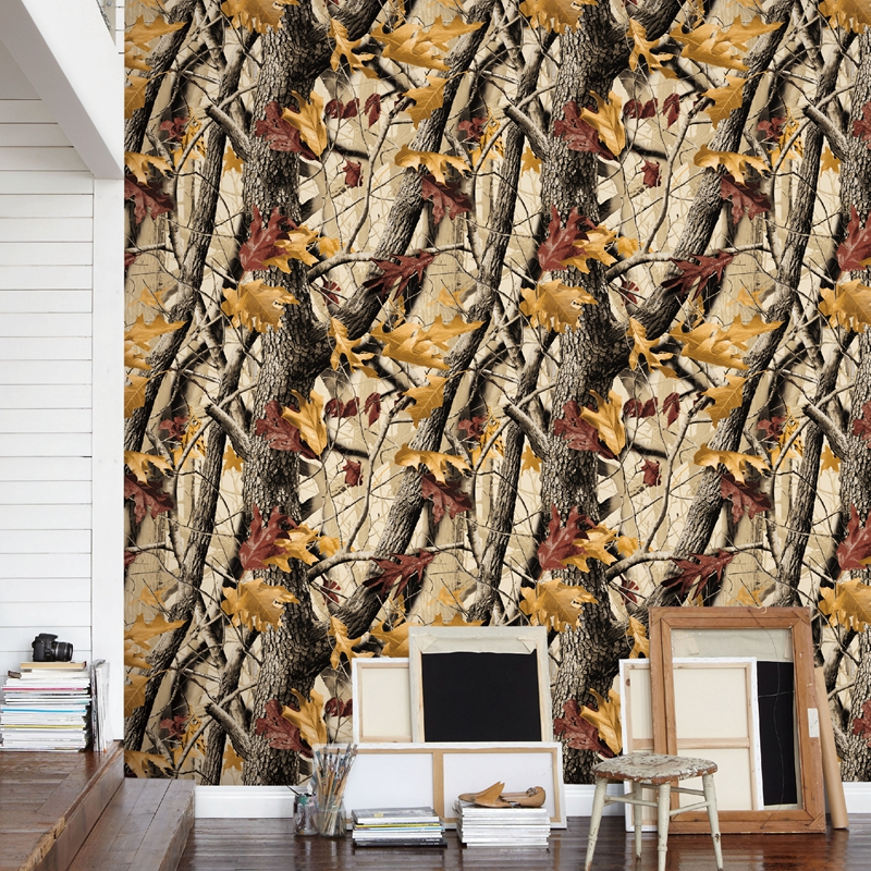 Autumn Jungle Tree Leaves Forest Tree Pattern Wallpaper For Walls 3D Modern Fashion Design Living Room Decor Wall Paper Rolls 3D fashion letters and zebra pattern removeable wall stickers for bedroom decor