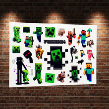 3D Game Cartoon Pixels Buttle Waterproof Tattoo Sticker Child Body Arm Flash Tattoo Element Waterproof Tatoo Paste