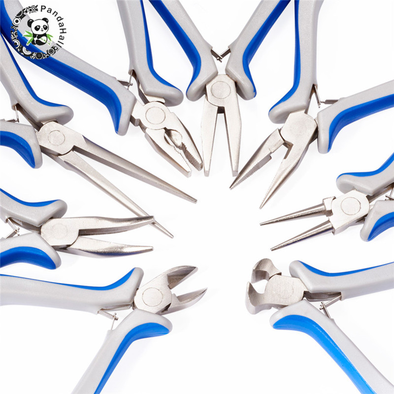 Pandahall 8pcs/sets Hot Pliers Jewelry Making Tools Equipments Carbon-Hardened Steel Multi Usage Pliers Beads P002Y~P009Y F55