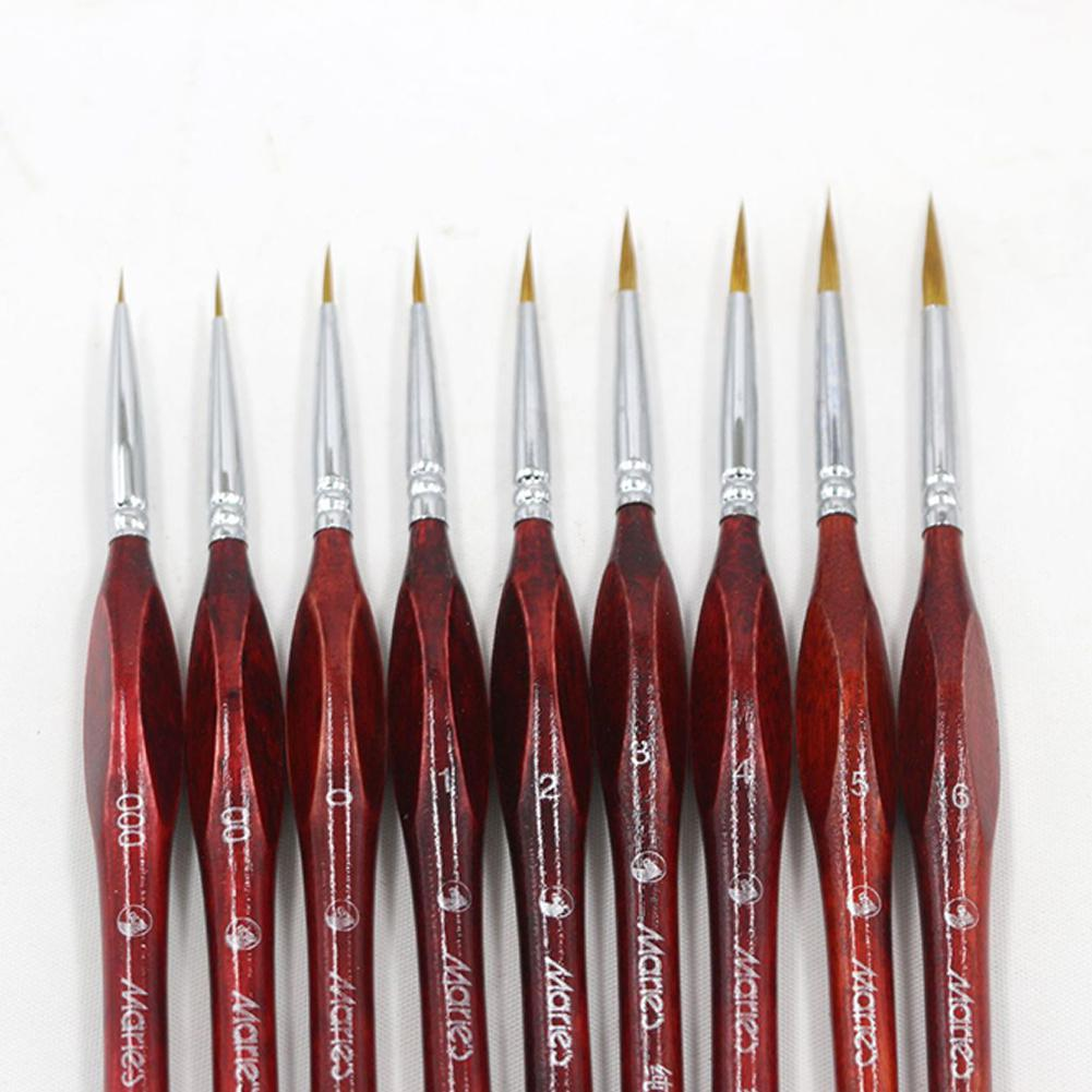 Adeeing Ink Brush Professional Fine Hand-painted Hook Line Pen Round Tip Watercolor Drawing Painting Brush Pen Art Supplies