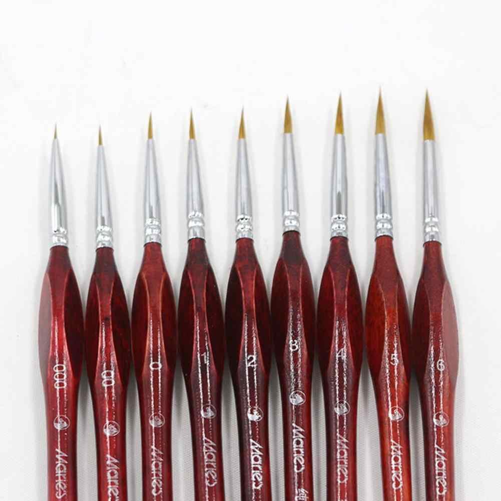 Brochas de arte en miniatura para dibujar pincel de pintura al óleo para pintura al óleo goulache suministros de arte r60