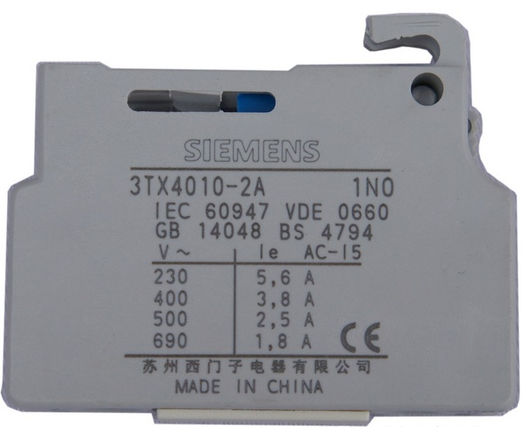 SIEMENS 3TX4001-2A AUXILIARY CONTACT BLOCK