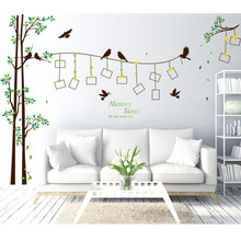Large diy family pictures tree wall stickers 3d art decor