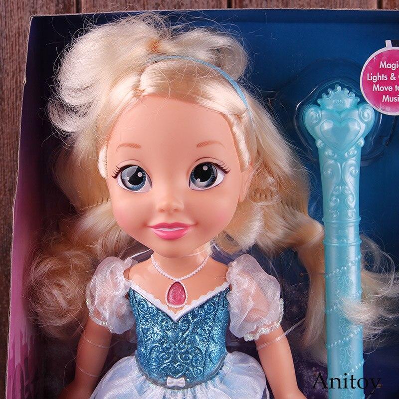 Princesse poupée cendrillon avec lumière et son PVC figurine mobile jouets pour les filles cadeau d'anniversaire de noël