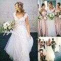 Vestidos 2016 Del Cordón Del Diseño Nupcial de la Playa Vestidos de Novia de Estilo bohemio Vestido
