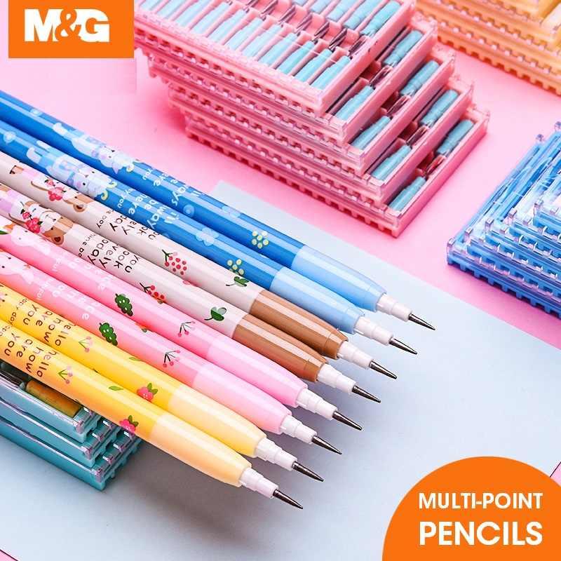M & G çok noktalı kalemler olmayan bileme otomatik mekanik kalem itme-nokta güçlü kalem kurşun okul malzemeleri için IELTS kullanımı