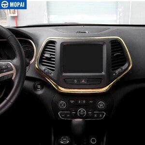 Image 2 - MOPAI ABS Автомобильная внутренняя панель навигационная панель GPS декоративная рамка наклейки для Jeep Cherokee 2014 Автомобильный Стайлинг