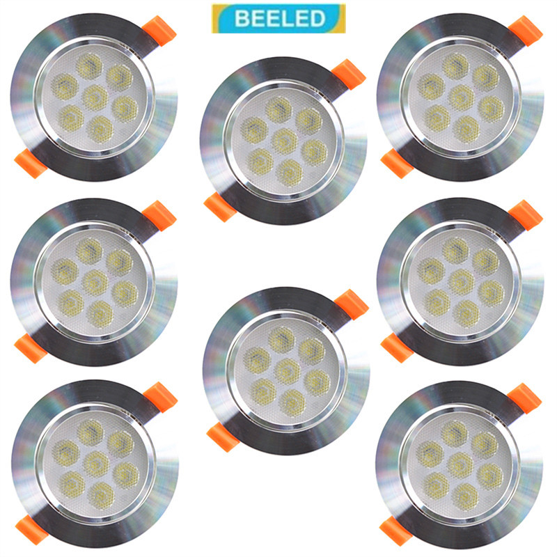 8 шт. в светодиодный светильники светодиодный встраиваемые потолочный светильник Dimmbale 3 Вт 5 Вт 7 Вт высокой мощности светодиодный чип светод...