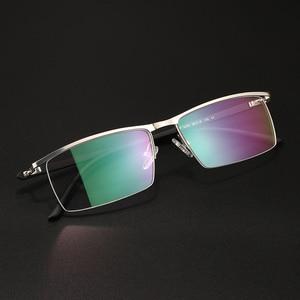 Image 2 - BCLEARR Montura de gafas de titanio para hombre, gafas de negocios ópticas, sin montura, con bisagras de resorte, 5 colores opcionales, oferta