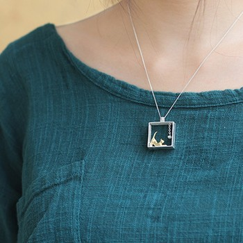Cat 925 Sterling Silver Pendant Necklaces6