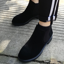 AME British Style Martin Ankle Boots Women Black Shoes Slip-On Breathable 3.5CM Chelsea Booties J510 цены онлайн