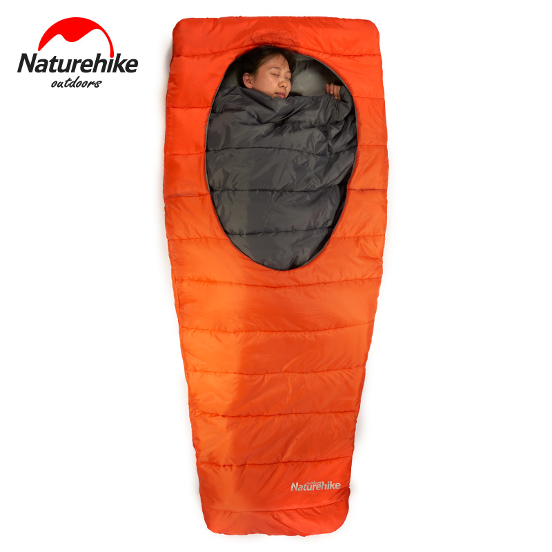Naturehike Mid-center Ellipse open Sleeping Bag Outdoor camping and home portable warm sleeping bag цена 2017