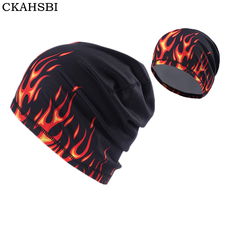 CKAHSBI Outdoor Men Quick Dry Cotton Print Cycling Cap Headscarf Headband Women's Winter Hat Running Sport Pirate Flame Hat Hood худи print bar red hood arkham knight edition