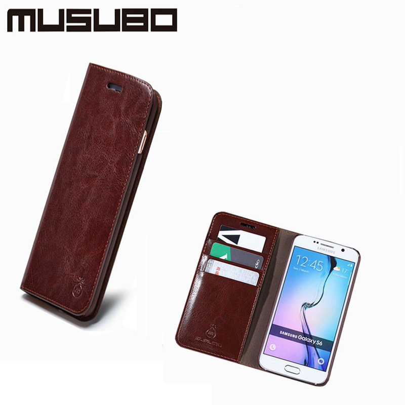 bilder für Echtes Leder-fällen Für Samsung S7 S7edge Flip-Cover Wallet Ledertasche Für Samsung S3 S4 S5 S6 rand
