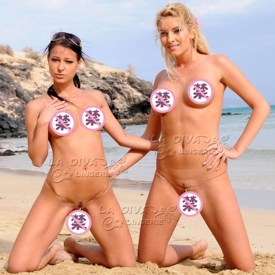 Womens Slicon Invisible Pearl Massage Sexy Micro Bikini -8159